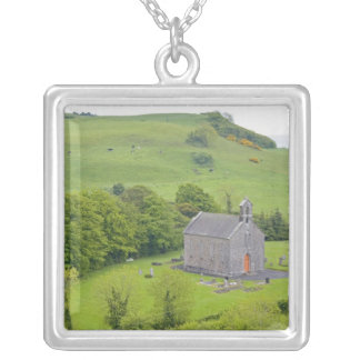 Rock of Dunamase, Ireland. Views of and around Square Pendant Necklace