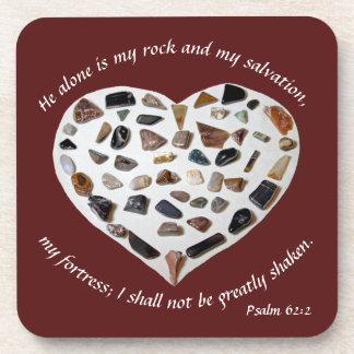 Rock of My Salvation Bible Verse Coasters