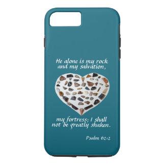 Rock of My Salvation Bible Verse Teal Phone Case
