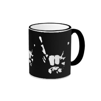 Rock of Shadows Ringer Coffee Mug