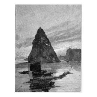 Rock of the Little Orphan on the Yangtze River Postcard