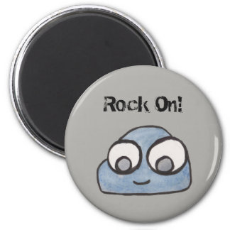 Rock On! Baby Rock Illustration Magnet
