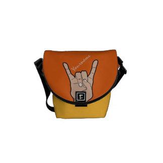 ROCK ON custom color messenger bag