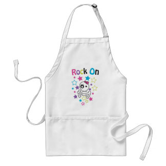 ROCK ON CUTE SKULLS AND BONES FOR GIRLS STANDARD APRON