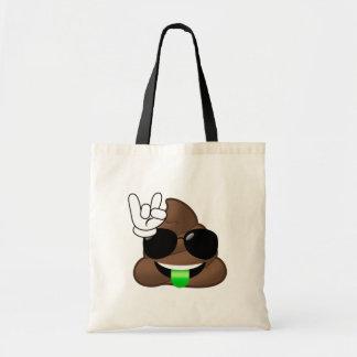 Rock On Emoji Poop Tote Bag