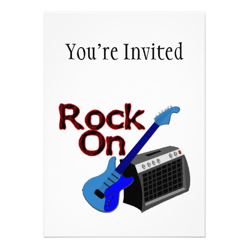 Rock On Guitar & Amp Personalized Announcements