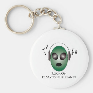 Rock On It Saved Our Planet Keychain