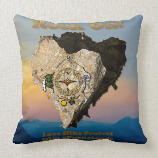 ROCK ON! Love Hike Protect Our Public Lands Cushion