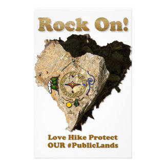 ROCK ON! Love Hike Protect Our Public Lands Stationery