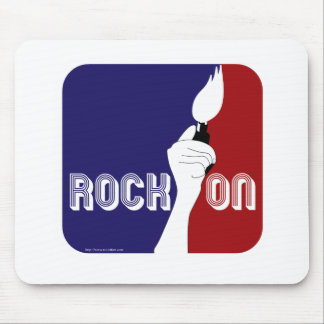 Rock On Music Sports Logo Mouse Pad