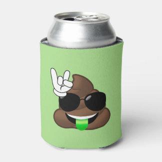 Rock On Poop Emoji Can Cooler (green)