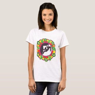 Rock On! Rock Climbing Zen Girl T-Shirt