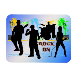 Rock On - Rock n' Roll Band Customizable Flexible  Magnet