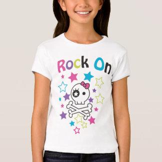 ROCK ON T-SHIRT SKULLS AND STARS