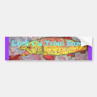 Rock On Trout Bums Bumper Sticker