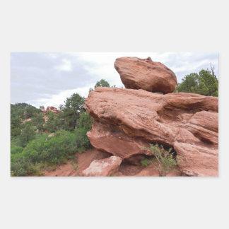 Rock Outcrop at Garden of the Gods Rectangular Sticker
