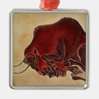 Rock painting of a bison, late Magdalenian Christmas Ornament