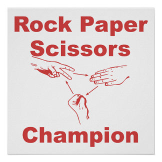 Rock Paper Scissors Champion Poster