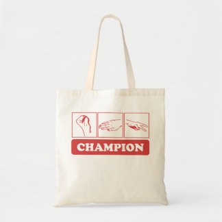 Rock Paper Scissors Champion Budget Tote Bag