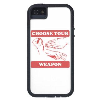 Rock Paper Scissors Choose Your Weapon iPhone 5 Cases