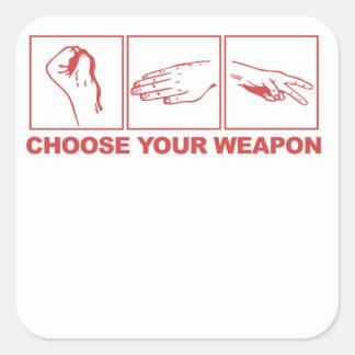Rock Paper Scissors Choose Your Weapon Stickers