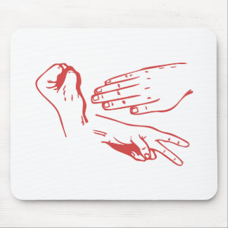Rock Paper Scissors Hands Mouse Pads