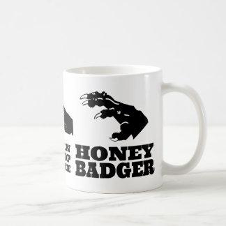 Rock Paper Scissors -- Honey Badger! Basic White Mug