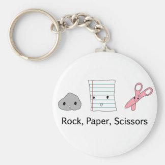 Rock Paper Scissors Key Ring