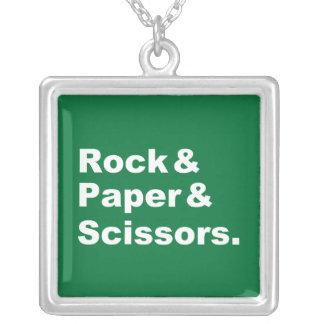 Rock & Paper & Scissors Necklace