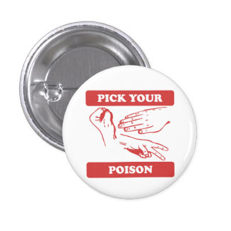 Rock Paper Scissors Pick Your Poison Pin