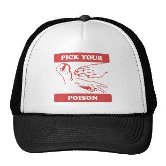 Rock Paper Scissors Pick Your Poison Hats