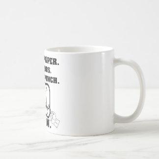 Rock Paper Scissors Throat Punch I Win Coffee Mug