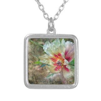 Rock Peony Silver Plated Necklace