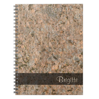 Rock Photo Geology Texture any Text Spiral Note Book