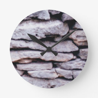 rock pile formed round clock
