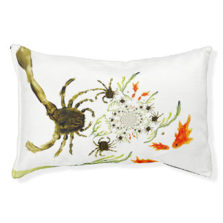 Rock Pool Crabs and Fish Fun Pet Bed