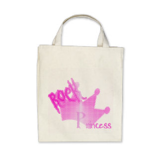 Rock Princess - Organic Grocery Tote Canvas Bag