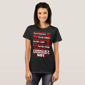 Rock Proud Balance Forklift Operators Wife Tshirt