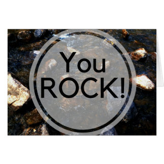 Rock Pun Greeting Card