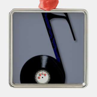Rock Record Note Metal Ornament