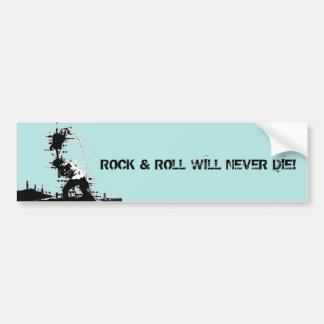 Rock & Roll Bumper Sticker
