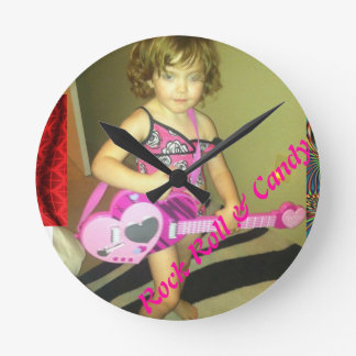 Rock Roll & Candy Round Clock