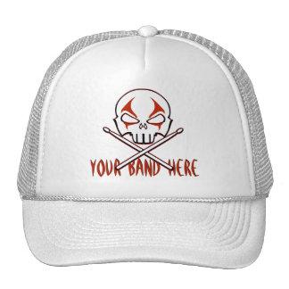 Rock & Roll Cap Custom Heavy Metal Drummer Caps Trucker Hats