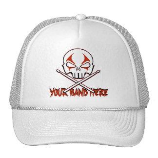 Rock & Roll Cap Custom Heavy Metal Drummer Caps Mesh Hats