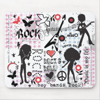 Rock & Roll Girls Mouse Pad