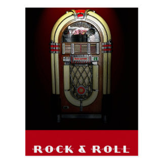 Rock & Roll Jukebox Postcard