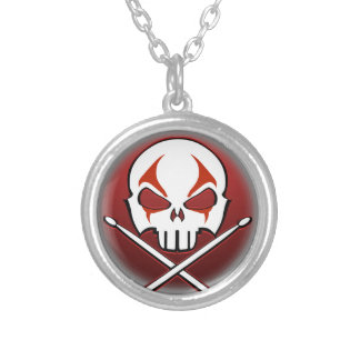 Rock & Roll Necklace Cool Heavy Metal Drummer Gift