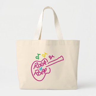 Rock & Roll Neon Large Tote Bag