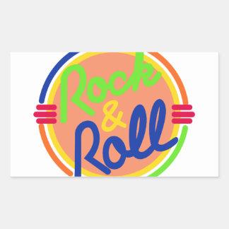 Rock & Roll Rectangular Sticker