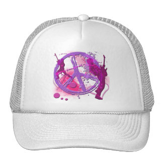ROCK & ROLL RETRO PEACE SIGN CAP
